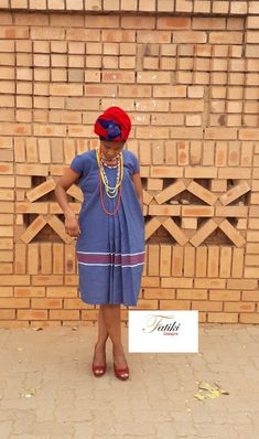 Yele ya Sepedi/Ndebele with 3 cats fabric called Kgakana Best African Dresses, African Print Dresses, African Print Fashion, African Wear, African Fashion Dresses, Pedi Traditional Attire, Sepedi Traditional Dresses, South African Traditional Dresses, African Blouses