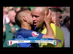 France faced off with Republic of Ireland in the quarterfinals winning 2:1. Both goals from France scored by Griezmann on 58 and 61 minutes while Brady score...
