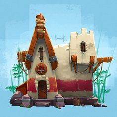 Little house on Behance