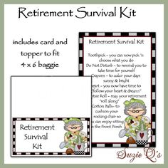 Retirement Survival Kit includes Topper and Card by SuzieQsCrafts