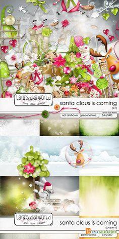 Scrap - Santa Claus is Coming PNG and JPG