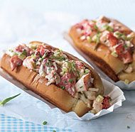 Lobster Rolls -- Used live lobsters where 1 lobster = 1 lb of lobster meat. So, for 2 servings, get 2-3 whole lobsters.- I didn't add Tarragon. Instead, chopped up fresh Parsley, cilantro, chives.- If you get French rolls, it's best to toast it.- Make the butter sauce: 1-2 tbsp butter and 1-2 cloves of minced garlic and melt it butter with garlic (garlic infused butter).