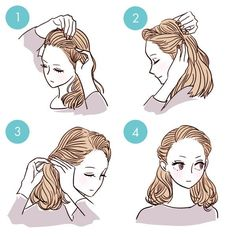 Simple, cute, and easy hairstyle