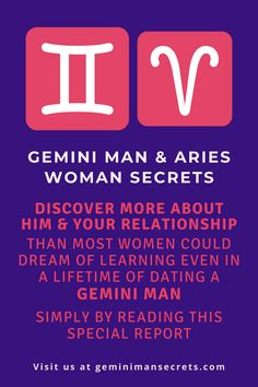Hey there beautiful Aries lady! I believe you are here for a reason: you want a committed relationship with that Gemini man in your life. I've consulted many clients with this special combination and have helped them find a way to align their stars and make it work after all. I can help you too, just keep reading. #zodiac #horoscope #sign #love #relationship #compatibility #dating #aries #gemini #man #woman #match #dating_aries #dating_gemini #seduce #attract #keep #guide #in_love… Relationship Compatibility, Love Compatibility, Aries Woman, Gemini Man, Zodiac Horoscope, Make It Work, Believe In You, The Secret, Love Her