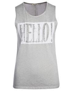 Top mit Hello-Print- hellgrau von rich&royal bei Mode Weiss jetzt kaufen | kleidoo
