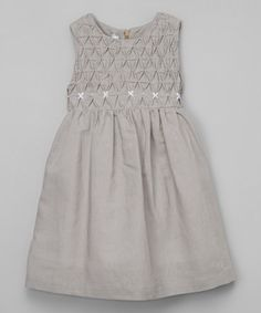 Another great find on #zulily! Taupe Textured A-Line Dress - Toddler & Girls #zulilyfinds