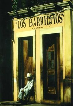 Los barrilitos  (Acuarela sobre papel)  Oscar Giacinti
