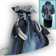 A personal favorite from my Etsy shop https://www.etsy.com/listing/594028333/2-way-recycled-old-jeans-backpack