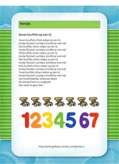Versje: Knuffels op een rij Poetry, Bullet Journal, School, Kids, Children, Boys, Schools, Poetry Books, Babies
