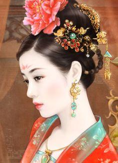 @PinFantasy - chinese art - ✯ http://www.pinterest.com/PinFantasy/arte-~-la-mujer-en-el-arte-chino-women-in-chinese-/