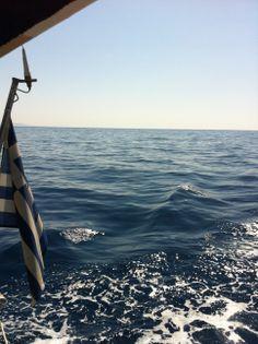 Sailing to Kos, Aegean, Greece