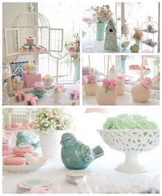 Bird themed Baptism Party via Kara's Party Ideas http://KarasPartyIdeas.com #birdbaptismparty (2)