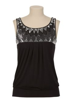 Sequin Scoop Neck Tank available at #Maurices