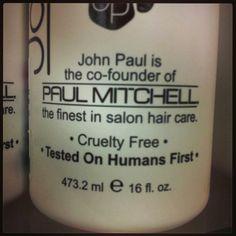 Cruelty free #paulmitchell <3 http://www.peta.org/living/beauty/paul-mitchell/