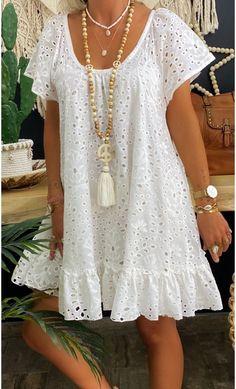 Simple Dresses, Day Dresses, Pretty Dresses, Dress Outfits, Casual Dresses, Short Dresses, Summer Dresses, Boho Fashion, Fashion Looks