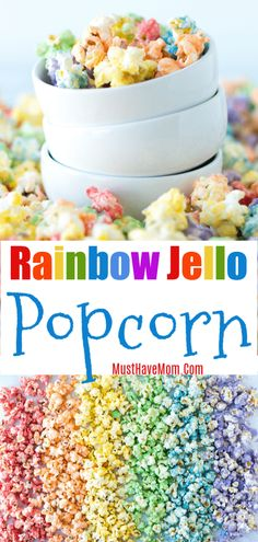 How to make rainbow popcorn recipe! This rainbow popcorn DIY is easy. How to make rainbow popcorn recipe! This rainbow popcorn DIY is easy. Rainbow Popcorn, Rainbow Jello, Candy Popcorn, Rainbow Food, Rainbow Punch, Rainbow Pasta, Popcorn Cake, Pop Popcorn, Gourmet Popcorn