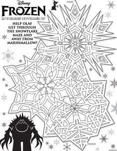 These free printable mazes from Disney's Frozen movie will help with tracking skills and also eye/hand coordination.  Enjoy!
