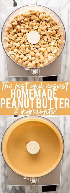 The Best and Easiest Homemade Peanut Butter! - - How to make peanut butter at home! I will show you how to make The Best and Easiest Homemade Peanut Butter! You will never buy store bought again! A Food, Good Food, Food And Drink, Yummy Food, Good Healthy Recipes, Healthy Snacks, Eat Healthy, Snacks List, Homemade Peanut Butter