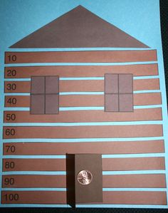 Classroom Freebies: Lincoln's Skip Counted Log Cabin