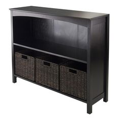 Winsome Wood 92410 4pc Storage 3-Tier Shelf with 3 Small Baskets