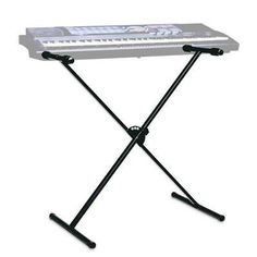 "Portable Keyboard Stand by Yamaha. $22.53. The quintessential ""X-style"" stand designed for beginners and hobbyists. A slim folding position provides traveling and storage convenience. Complete with a circular locking mechanism and quick change knob that adjusts to six different playing heights, this stand provides fundamental stability and portability. ."