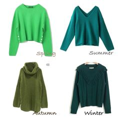 Green for seasons Colour Combinations Fashion, Fashion Colours, Colorful Fashion, Deep Autumn Color Palette, Deep Winter Colors, Summer Outfits, Casual Outfits, Fashion Outfits, Winter Typ