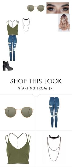 """Untitled #332"" by melissaperez427 on Polyvore featuring Ray-Ban, Topshop, River Island and H&M"