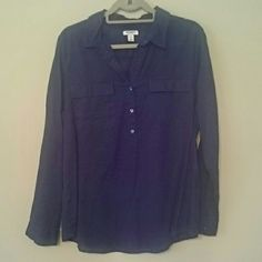 Blouse Purple blue button up size large from Old Navy Old Navy Tops Button Down Shirts
