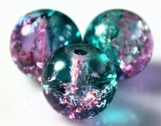 400x-4mm-200x-6mm-100x-8mm-50x-10mm-ROUND-CRACKLE-GLASS-BEADS-30-COLOURS