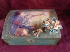 Wood Boxes, Facebook Sign Up, Decorative Boxes, Painting, Art, Art Background, Wooden Crates, Wood Crates, Painting Art