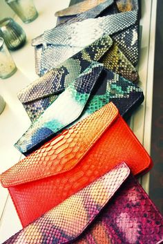 DIY Inspiration: Snake Print Clutches