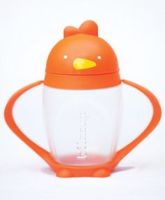 orange lollacup - these sippy cups are pretty cool and are made completely in the USA