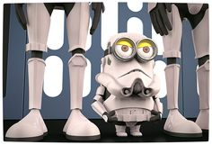 Vamers - Artistry - Fandom - Minion Wars Feel the Force - Star Wars and Despicable Me Mash-Up - Stormtrooper Minion