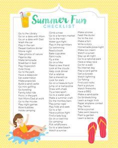 Summer Fun List PrintableReally nice recipes. Every hour.Show me Mein Blog: Alles rund um Genuss & Geschmack Kochen Backen Braten Vorspeisen Mains & Desserts!