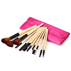 12PCS High-end Brush Sets Soft Cosmetic Face Powder Make-up Brush with Red Cloth Bag
