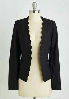Love a well-fitted blazer w/ an interesting edge/trim.