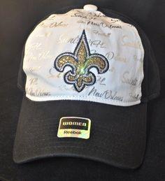 New Orleans Saints Swarovski Rhinestone Bling Hat www.babywantsbling.com 3ab4f8f2b