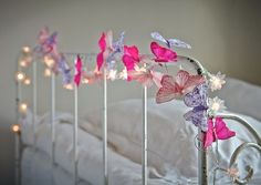 Whimsical, pretty and delightfully different, our butterfly garlands look positively magical intertwined with our flower lights.