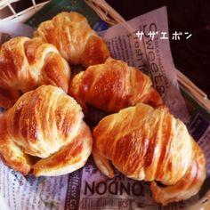 1時間でクロワッサン、初心者でも簡単レシピ。 Bread Recipes, Snack Recipes, Dessert Recipes, Cooking Recipes, Snacks, Japanese Bread, Japanese Food, Japanese Desserts, Essen