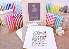 Personalised Sweet Bags A SWEET ENDING wedding, engagement, birthday, vintage, candy bags for candy carts, in a variety of different colours