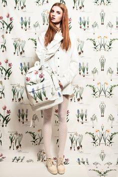 campaign backpack ss'13; photo - Olya Kushyk; backpack - Sweta Yaremko; style - Sweta Yaremko; model - Olya Rozhdestvenskaya