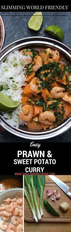A delicious, easy and quick prawn curry that is simple to make but tastes incredible. Sweet potatoes add the perfect richness into the sauce which is enhanced with coconut milk. This version uses frozen prawns so is a perfect easy meal that can be prepared in no time. This curry ius also low in syns on Slimming World