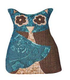 Harvest Owl Shaped Pillow