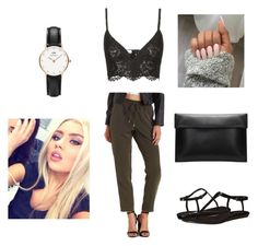 """""""Dinner w bae"""" by allgoodbabybaby on Polyvore featuring Charlotte Russe, Valentino, Nine West and Daniel Wellington"""