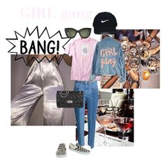 """GIRL gang"" by amalie-josefine ❤ liked on Polyvore featuring High Heels Suicide, Forever 21, CÉLINE, Zadig & Voltaire, Vans and Nike Golf"