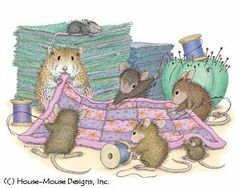 """""""Mudpie, Maxwell, Monica, Amanda and Muzzy"""" from House-Mouse Designs®"""