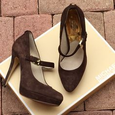Michael Michael Kors Suede Mary Jane Pumps Very good condition! MICHAEL Michael Kors Shoes Heels