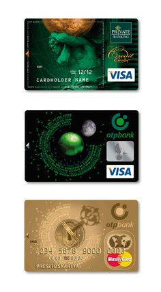 credit card design Graphic design project that focuses on the depiction of the new logo in the artworks designed for newly issued OTP Bank credit cards. Miles Credit Card, Credit Card Hacks, Paying Off Credit Cards, Rewards Credit Cards, Best Credit Cards, Credit Score, Business Credit Cards, Business Card Design, Credit Card Pictures