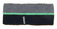 Stirnband gestreift grau dunkelblau headband crochet
