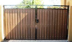Decorative straight top RV gate